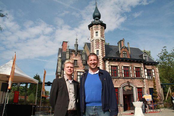CEO Steve Van den Kerkhof en Gert Verhulst bij Anubis The Ride in Plopsaland De Panne, archiefbeeld.