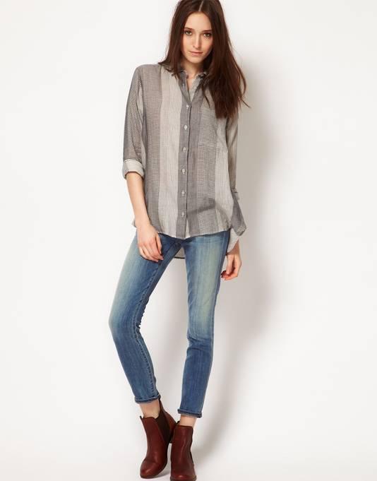 Een skinny jeans tot op de enkel
