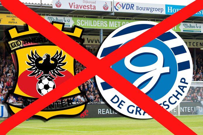 Er gaat een kruis door de wedstrijd GA Eagles-De Graafschap.