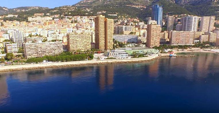 Uitzicht van de skyline van Monaco zoals die nu is.