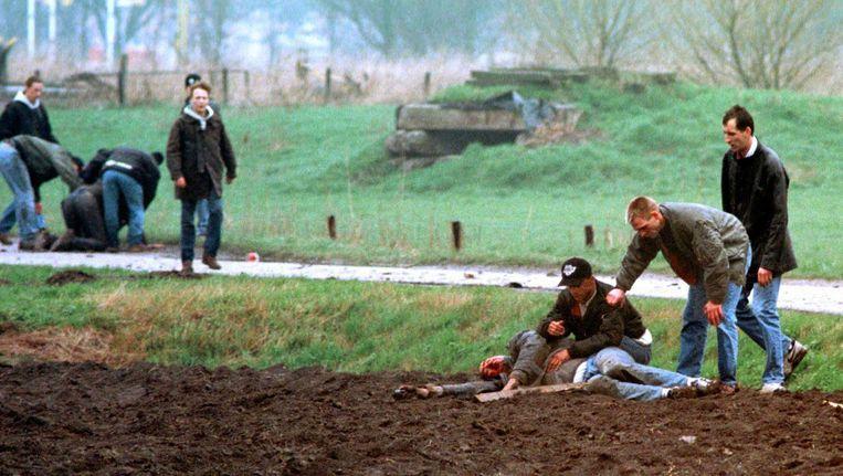Beverwijk, precies 20 jaar geleden, de vechtpartij waarbij Carlo Picornie stierf Beeld WFA