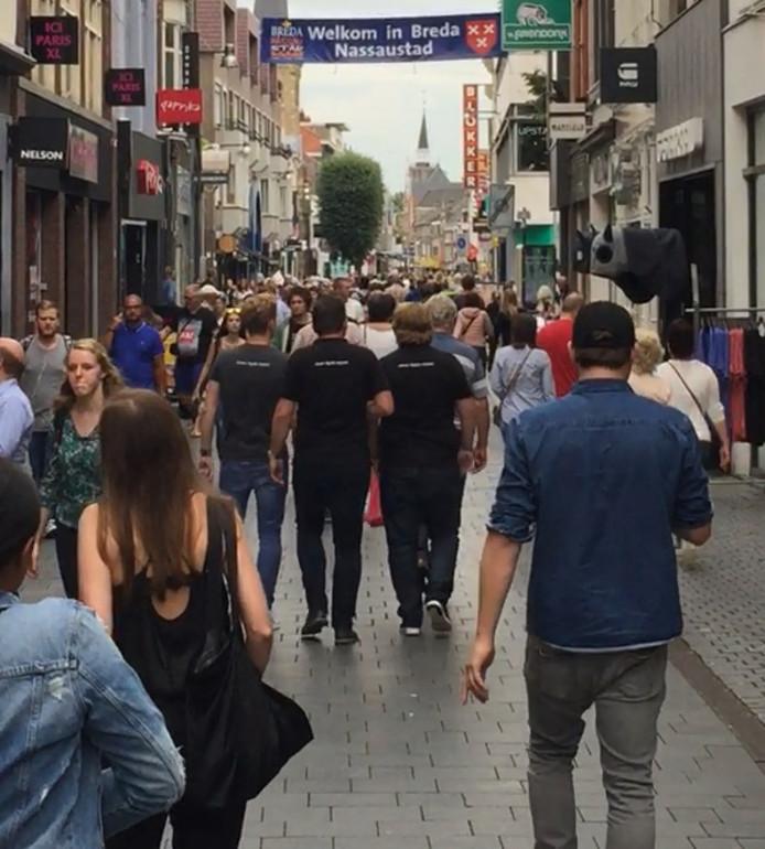 Nu al is het regelmatig 'Belgendag' in Breda. Dan is het standaard goed druk in de binnenstad.