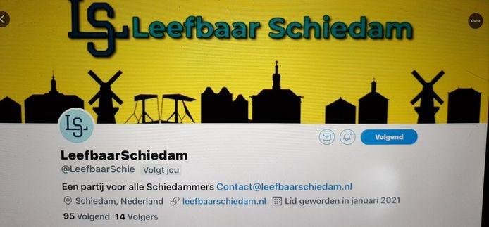 Het 'logo' van Leefbaar Schiedam.