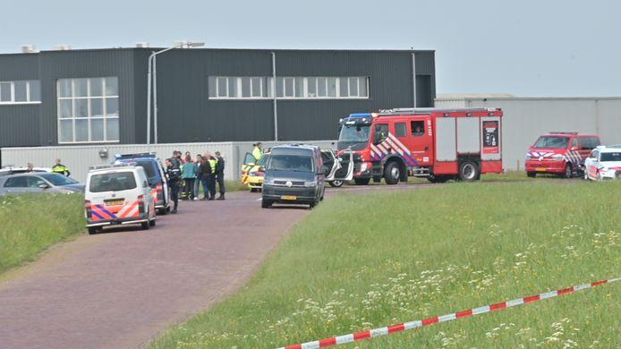 Drugslab op een boot gevonden bij de haven in Moerdijk.