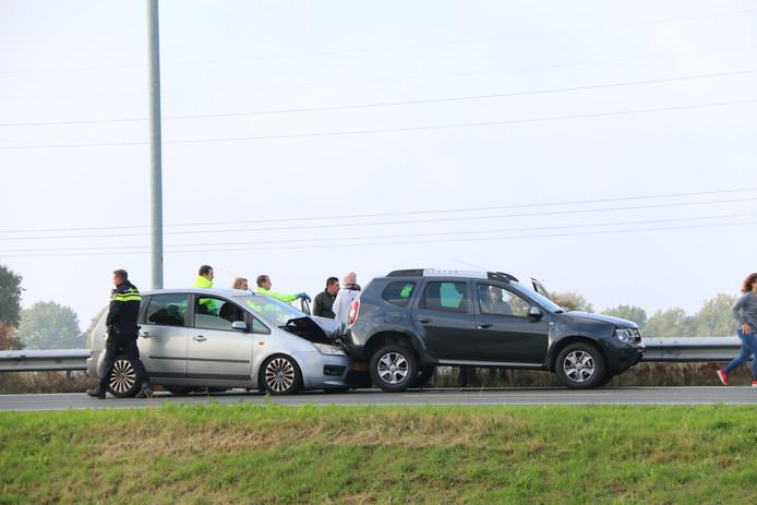 Aanrijding op de A73 bij Cuijk.