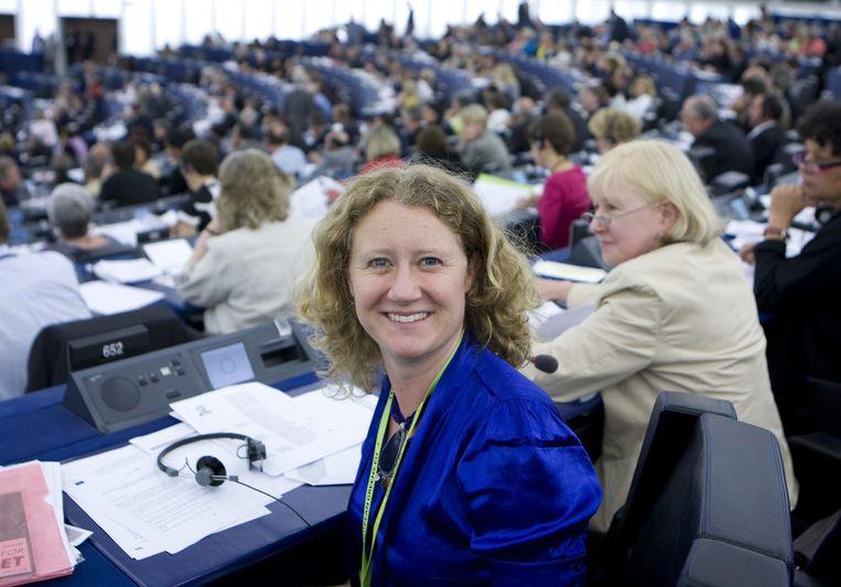 Judith Sargentini (GroenLinks) haalde uit naar de lidstaten vanwege het moeizame overleg over vernieuwing van de Europese antiwitwasrichtlijn. Beeld ANP