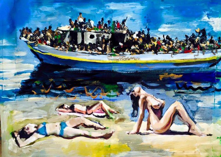 'Welcome in Europe' Beeld Peter Klashorst