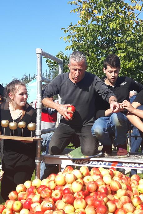 'Ons Plekske' in Vinkel stapelt zich naar wereldrecord met 7.000 appels