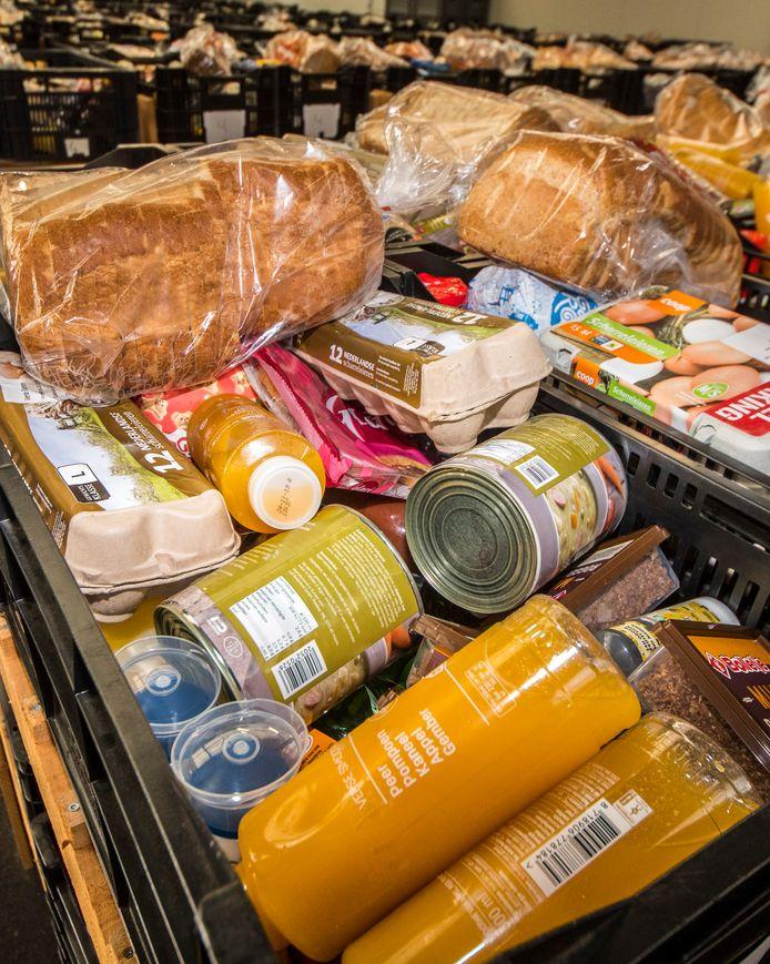 Inzameling bij een voedselbank