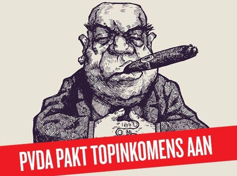 De PvdA stuurde haar leden een archetype van een graaier. Beeld