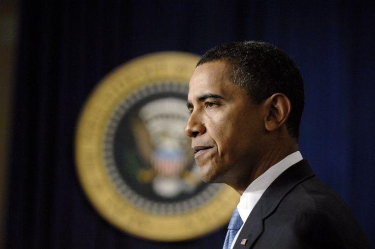Obama wees Republikeinse suggesties voor nog meer belastingverlagingen van de hand. De verkiezingsdebatten zijn voorbij, liet de president weten. ''En ik heb gewonnen.'' Foto EPA/Chris Usher Beeld