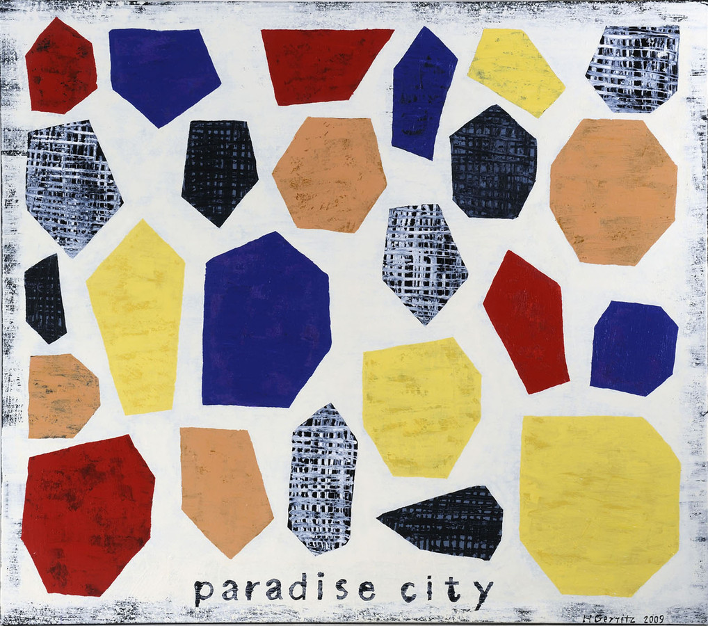 Harrie Gerritz, Paradise city, acryl op linnen.