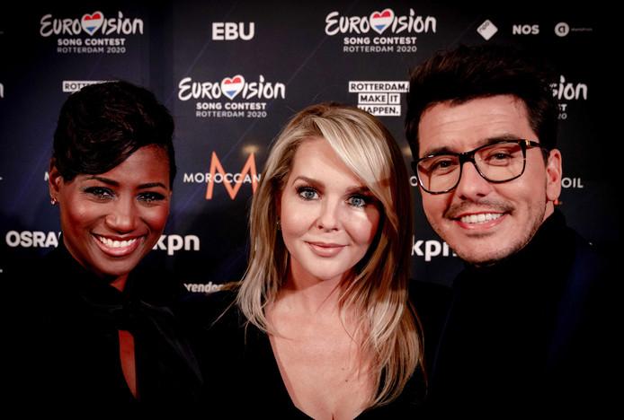 Edsilia Rombley, Chantal Janzen en Jan Smit.