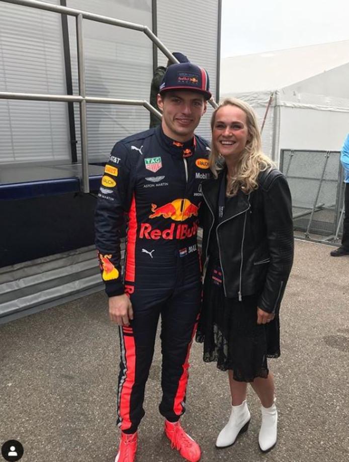 Irene Schouten ontmoette Max Verstappen tijdens de Jumbo Racedagen.