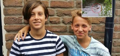 Joost en Luuk spotten bever in Wijchens Meer: 'Mama, ik heb 'm gezien!'