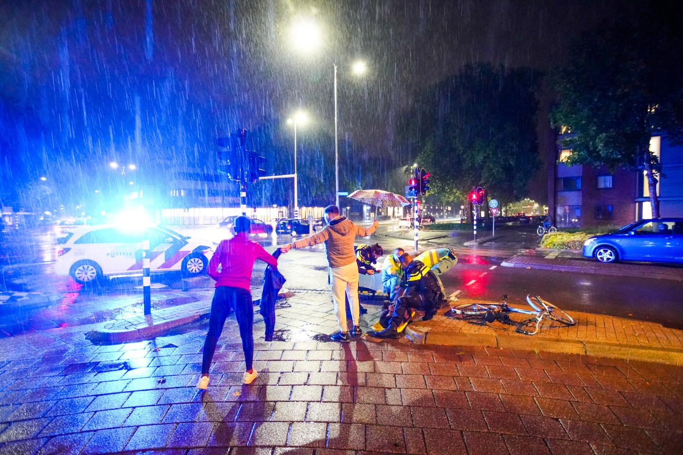 Vrouw gewond bij aanrijding Boutenslaan in Eindhoven.