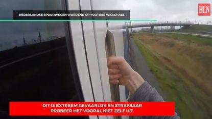 Nederlandse treinsurfer (17) geklist