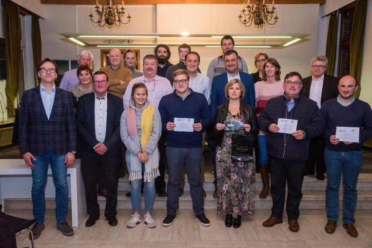 Voorstelling eindejaarsactie en trekking winnaars Oosterzele onderneemt.