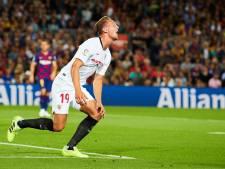 Barcelona wint ruim van Sevilla, Luuk de Jong mist handvol opgelegde kansen