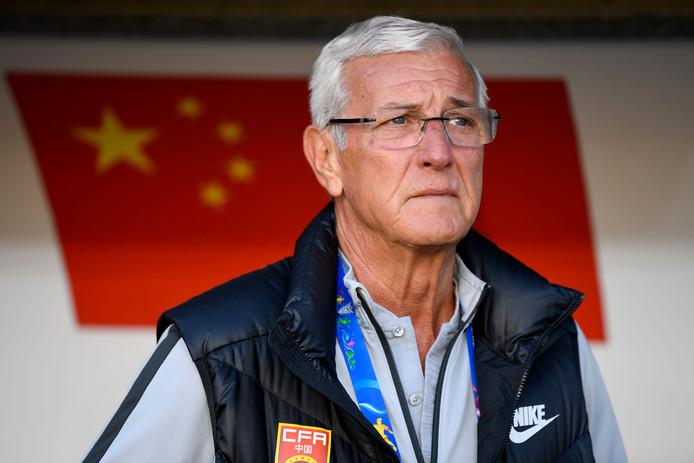 De zeventigjarige Marcello Lippi, in 2006 wereldkampioen met Italië en tegenwoordig bondscoach van China.