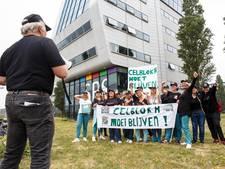 Protest bij SBS-gebouw om schrappen serie Celblok H