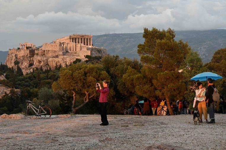 Toeristen mogen vanaf 15 juni vanuit 29 landen weer naar Griekenland op vakantie. Nederlanders nog even niet.   Beeld AFP