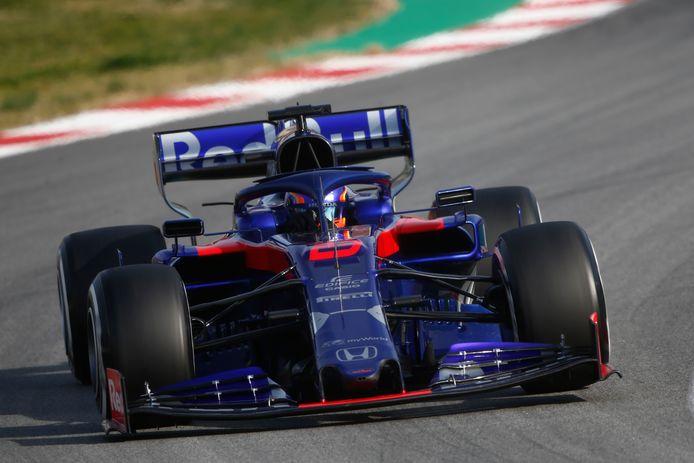 Een auto van Scuderia Toro Rosso in 2019.