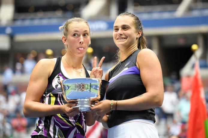 Premier titre en Grand Chelem en double et quart de finale en simple: un US Open mémorable pour Elise Mertens.
