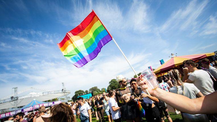 'Hoezo onze strijdvlag aanvullen met hetero's?' Beeld ANP
