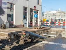 Nog geen problemen bij vervangen waterleiding in centrum Roosendaal