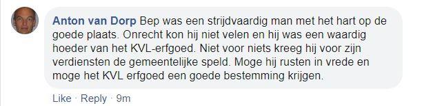Reactie Anton van Dorp (De Kleine Meierij)