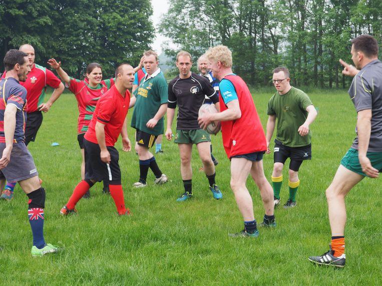 Rugby Mechelen organiseerde zondag een kennismaking met mixed ability rugby