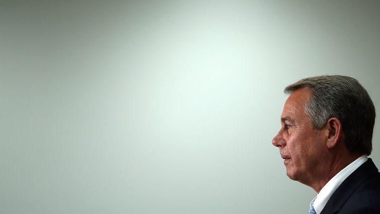 John Boehner, voorzitter van het Amerikaanse Huis van Afgevaardigden Beeld getty