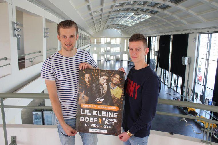 Gilles (26) en Eros (21) organiseren op 11 november in de Wellington Hippodroom hun eerste evenement. Ze hebben samen het evenementenbureau Chaud Events opgericht.