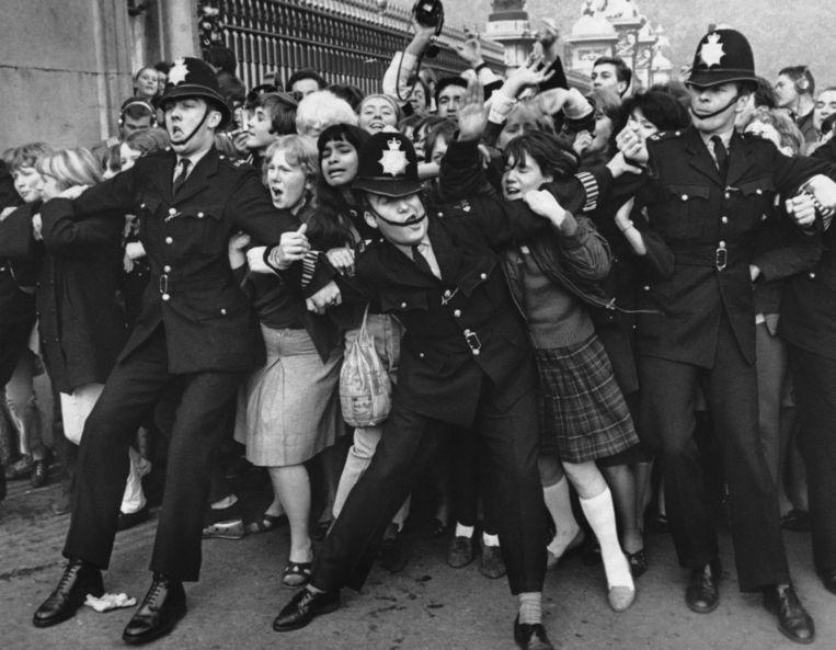 Fans van The Beatles. Beeld Hulton-Deutsch Collection/CORBIS