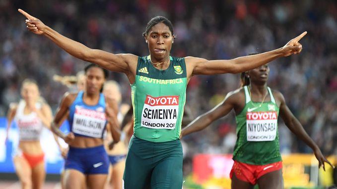 Zuid-Afrikaanse Semenya herovert haar wereldtitel op de 800m