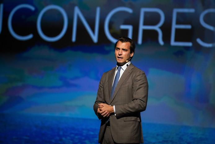 Thierry Baudet tijdens het congres van Forum voor Democratie.
