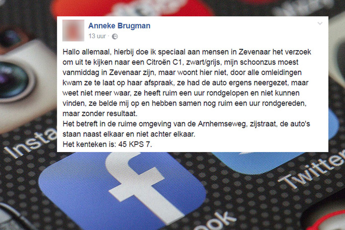Vrouw Vraagt Via Facebook Om Hulp Help Waar Heb Ik Mijn Auto