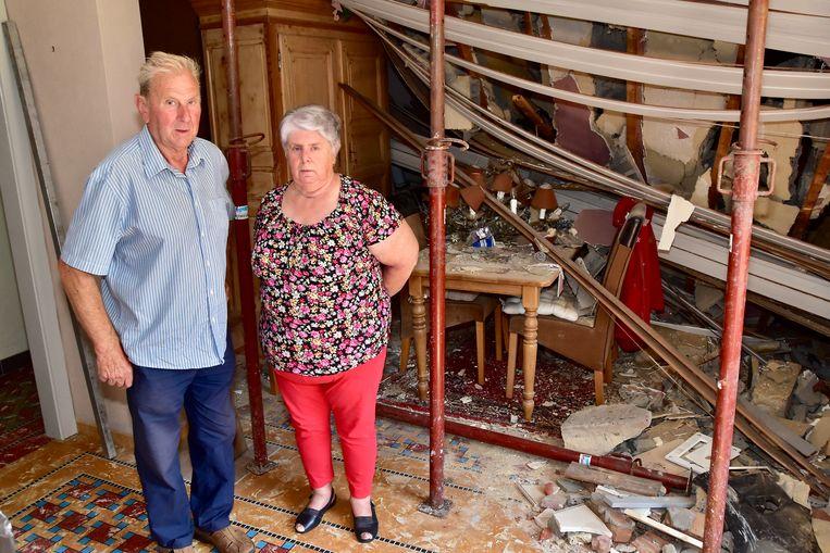 Eric Samyn en Lea Serry worden elke dag geconfronteerd met de enorme schade.