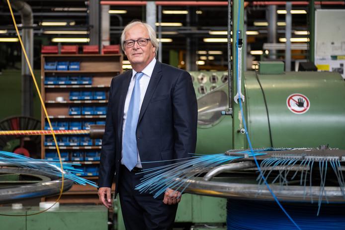 TKH-topman Alexander van der Lof heeft last van dalende orderontvangst in de Duitse industrie.