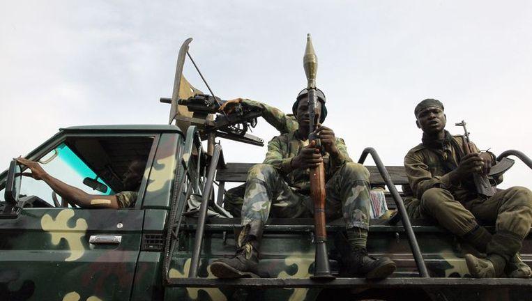 Troepen van Alassane Ouattara Beeld afp