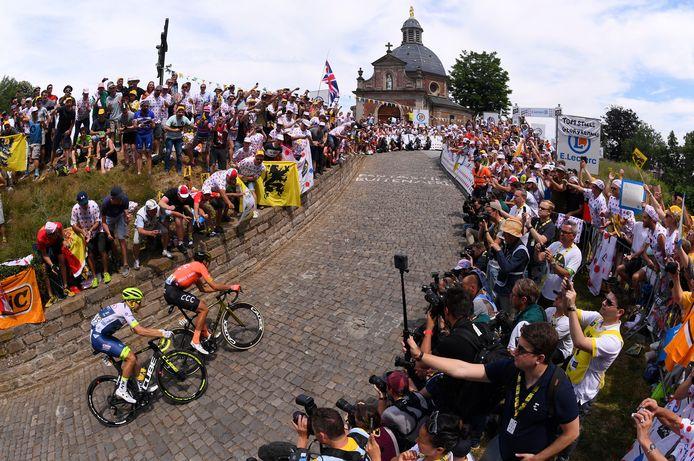 Le Tour de France était passé par le mythique Mur de Grammont l'année passée.