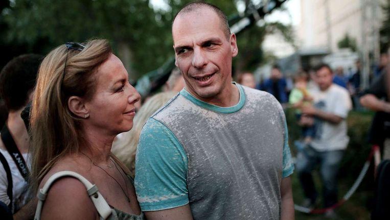 Yanis Varoufakis met zijn vrouw Danae Stratou