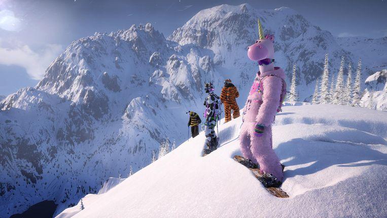 Rare kostgangers in de sneeuw in Steep. Beeld Ubisoft
