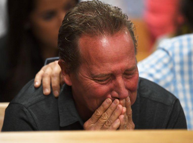Frank Rzucek, de vader van Shannan, tijdens het proces.