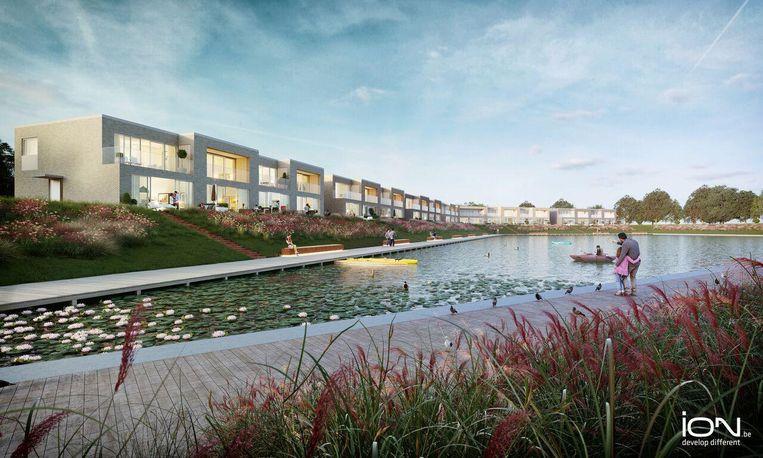 Op de woonzone wordt ook een recreatieve vijver aangelegd.