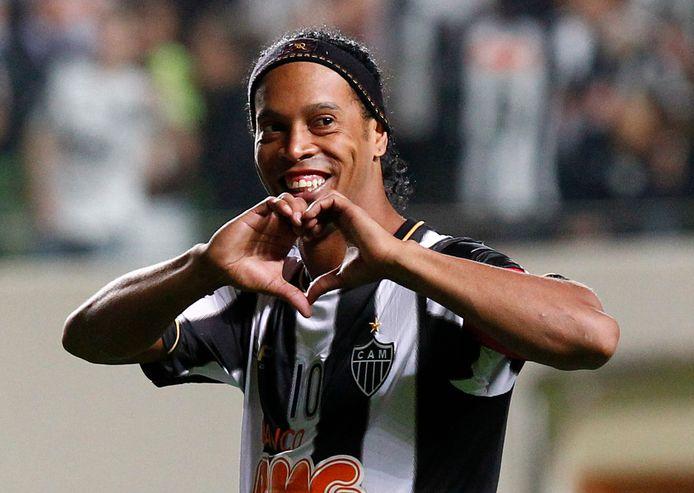 Ronaldinho in betere tijden als speler van Atletico Mineiro.