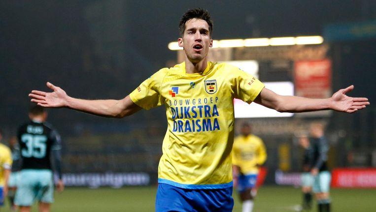 SC Cambuur speler Martijn Barto na de 2-0. Beeld pro shots