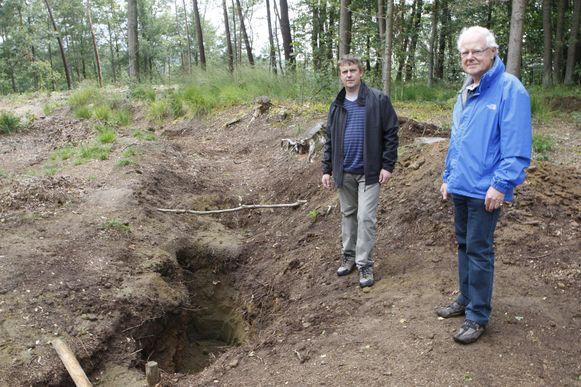 De oude loopgraven worden dit weekend opengesteld.