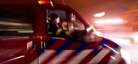 Weg Winschoten afgesloten vanwege grote brand